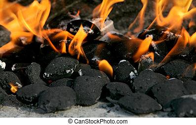 Kohle brennt