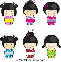 Kokeshi-Puppen
