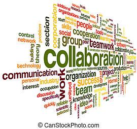Kollaboration in Wort Tag Cloud