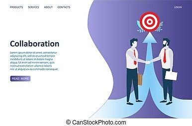 Kollaboration Vektor Website Landing Page Design Vorlage