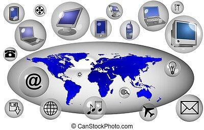 Kommunikation auf der ganzen Welt