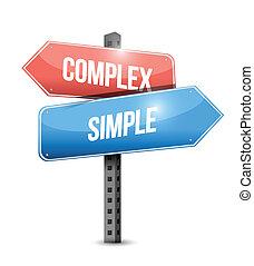 Komplexes, einfaches Zeichen Illustration Design.