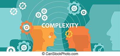 Komplexitätskonzept Illustration Vektorkopfdenken.
