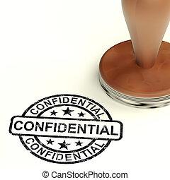 Konfidenzstempel mit privater Korrespondenz oder Dokumenten.