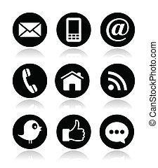 Kontakt, Web, Blog und soziale Medien