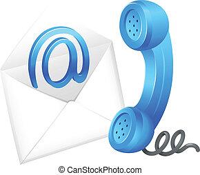 Kontaktieren Sie E-Mail-Symbol