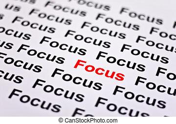 Konzentriert auf den Fokus