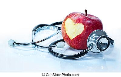 Konzept der Liebe für Gesundheit - Apfel.