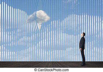Konzept der Wolken.