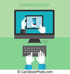 Konzept für reagierendes Webdesign.
