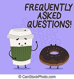 Konzeptuelle Handschrift mit häufig gestellten Fragen. Geschäftsfoto Text die häufigsten Anfragen Informationen helfen.