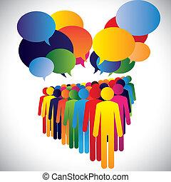 Konzeptvektor - Unternehmensmitarbeiter Interaktion & Kommunikation