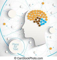 Kopf mit Gehirn