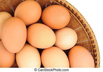 korb, eier