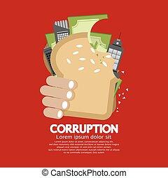Korruptionskonzept vektorische Abbildung.