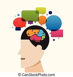 kreativ, gehirn, prozess, denken, idee