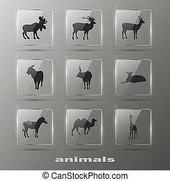 Kreative Elemente - Tier. Ikonen bereit. Eps10