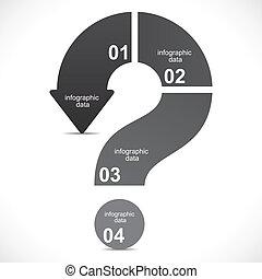 Kreative Fragezeichen infographics