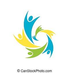 Kreative Leute Icon Design Konzept.