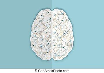 Kreatives menschliches Gehirn.