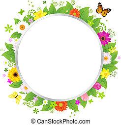 Kreis mit Blumen