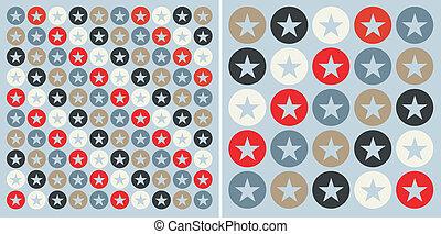 Kreise mit Sternenmustern