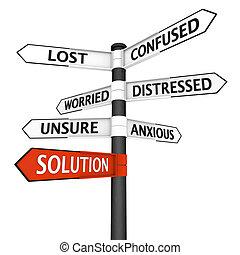 Kreuzungszeichen mit Lösung