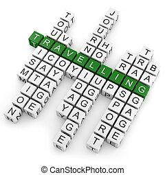 Kreuzworträtsel unterwegs.