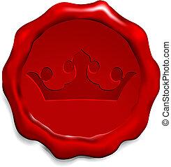 Krone auf Wachssiegel