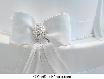 kuchen, decorared, wedding, perlen