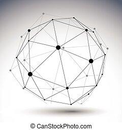 kugelförmig, di, farbe, abstrakt, abbildung, ledig, vektor, liniert, 3d