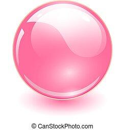 kugelförmig, glas, rosa