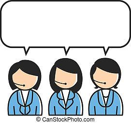 kunde, gruppe, service