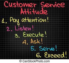 kunde, haltung, service