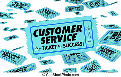 Kunden-Service Ticket Erfolg gute Kunden 3D Illustration.