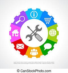 Kunden unterstützen Icon.