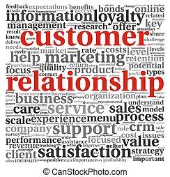 Kundenbeziehungskonzept auf weiß