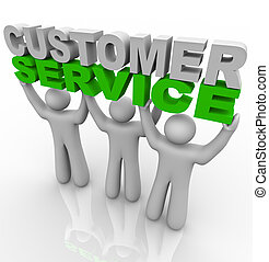 Kundendienst - die Worte heben