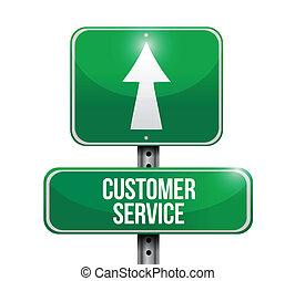 Kundendienst-Straßenzeichen Illustration