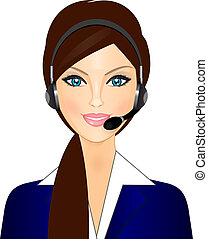 Lächelnde Telefonistin