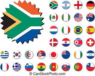 Länder, die Flaggenaufkleber