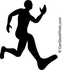 läufer, design, abbildung