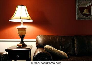 Lampe und Couch