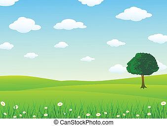 Landschaft mit Gras