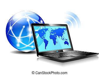 Laptop Internet surfen