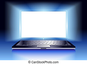 Laptop mit Licht