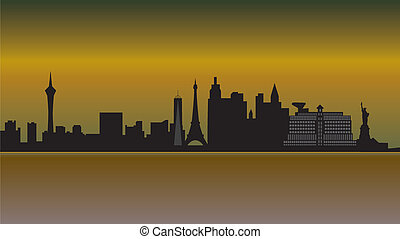 Las Vegas Skyline Wüste