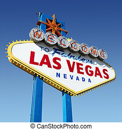 Las Vegas Willkommensschild.