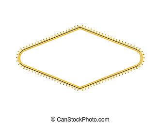 Las Vegas-Willkommenszeichen, Glühbirnen-Diamant rausgeschnitten