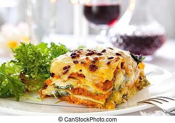 lasagne, vegetarier